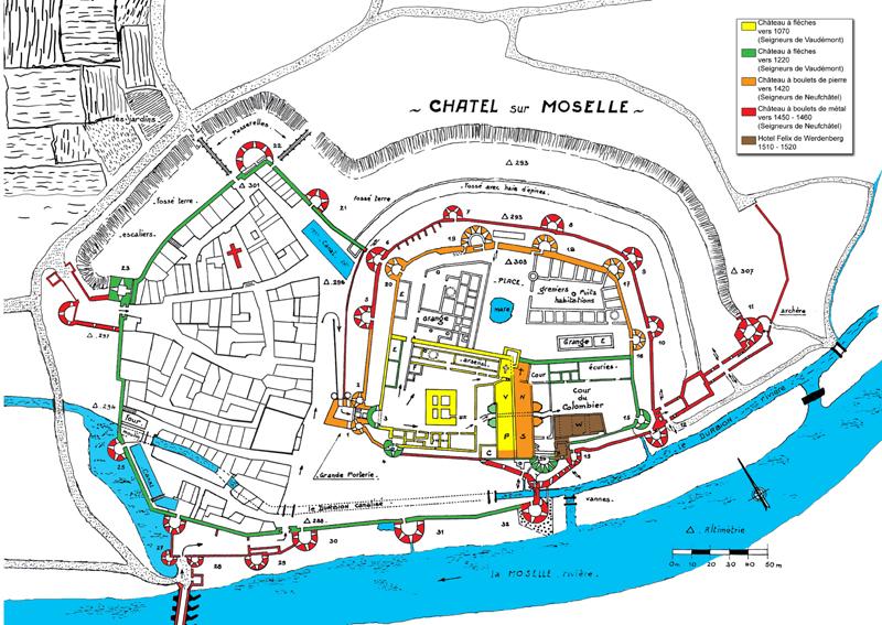 Region lorraine chateaux medievaux chateaux forts castle for Piscine du cateau